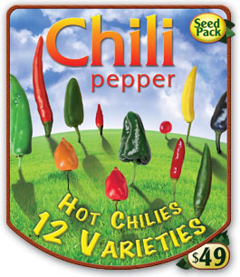 Heirloom Chili Pepper Pack